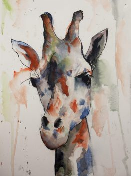 Giraffe Watercolour