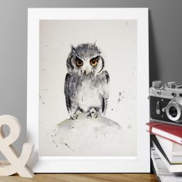 Watercolour Owl Print