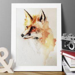 fox watercolour