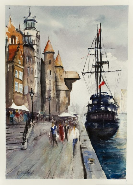 Gdansk Watercolour