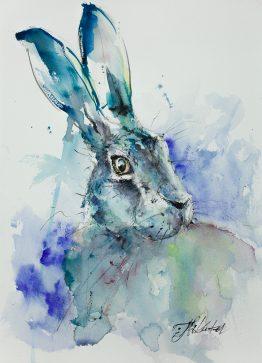 Ultramarine Turquoise Hare